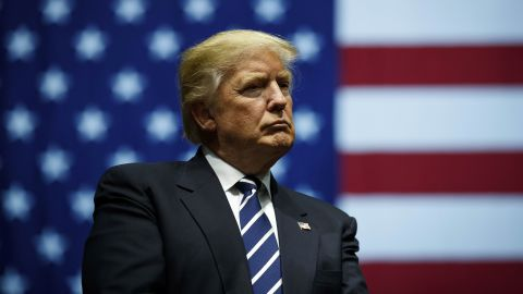 GRAND RAPIDS, MI - DECEMBER 9: President-elect Donald Trump looks on during a rally at the DeltaPlex Arena, December 9, 2016 in Grand Rapids, Michigan. President-elect Donald Trump is continuing his victory tour across the country. (Photo by Drew Angerer/Getty Images)