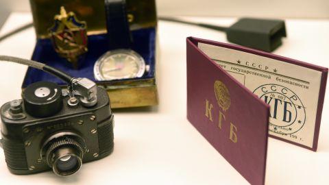 "A KGB agent's equipment; collecting ""kompromat"" began in the Soviet era."