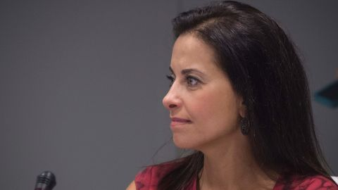 Goldman Sachs Foundation, and global head of corporate engagement, Dina Powell attends  the CEO Roundtable on the sidelines of the 71st session of the United Nations General Assembly in New York on September 20, 2016 in New York.