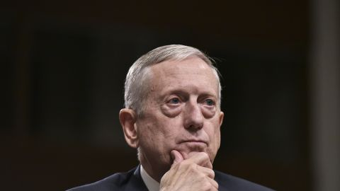 """Mattis testifies before the Senate Armed Services Committee. He <a href=""""http://www.cnn.com/2017/01/12/politics/james-mattis-defense-confirmation/"""" target=""""_blank"""">emerged from his confirmation hearing </a>with broad support after he took a strong posture against Russian President Vladimir Putin and answered tough questions on women and gays in combat."""