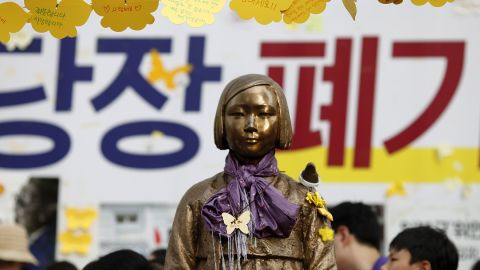 As part of the deal, Japan apologized and agreed to pay 1 billion yen ($8.7 million) to a fund to help victims of WWII sexual slavery.