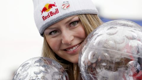 However, Vonn quickly bounced back and won the first of three straight World Cup titles in 2008 at the age of 23.
