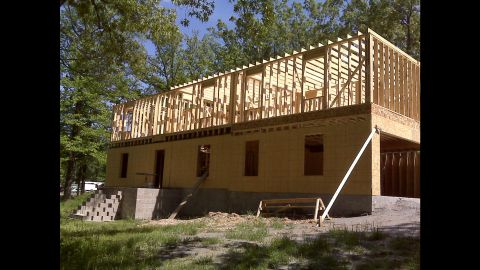 Photo of the home during construction
