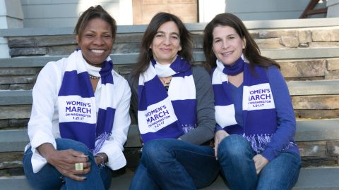 Patricia Canning, Marietta Zacker and Allison Busch-Vogel of South Orange, New Jersey will be attending the Women's March on Washington.