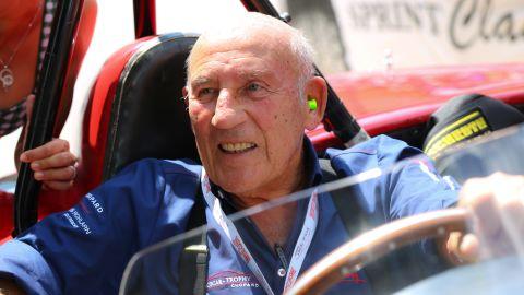 British motor racing legend, Stirling Moss.
