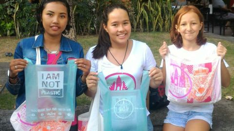 """Avani Eco has allied with """"Bye Bye Plastic Bags"""" campaigners Melati and Isabel Wijsen to lobby the Balinese government to control plastic pollution. <br /><br />As of 2018, conventional plastic bags will be banned on the island."""