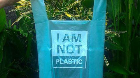 Cassava plastic bag from Avani Eco.