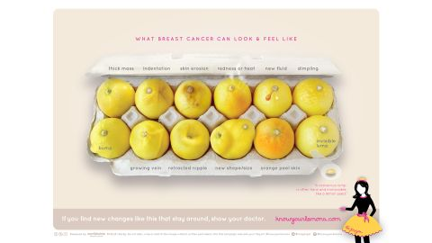 A viral image of lemons shows symptoms that may be due to breast cancer.