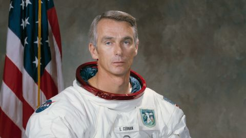 """<a href=""""http://www.cnn.com/2017/01/16/us/eugene-cernan-dies/index.html"""">Eugene A. Cernan,</a> the last astronaut to leave his footprints on the surface of the moon, died January 16, NASA said. He was 82."""