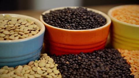 Lentils are packed with iron.