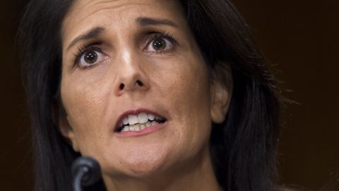 """<a href=""""http://www.cnn.com/2017/01/17/politics/haley-un-confirmation-hearing/"""" target=""""_blank"""">During her confirmation hearing,</a> Haley rapped the UN for its treatment of Israel and indicated that she thinks the US should reconsider its contribution of 22% of the annual budget. """"The UN and its specialized agencies have had numerous successes,"""" Haley said. """"However, any honest assessment also finds an institution that is often at odds with American national interests and American taxpayers. ... I will take an outsider's look at the institution."""""""