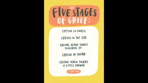 """McDowell created cards and illustrations for """"the relationships we have."""" She felt that the sympathy cards she received or encountered when trying to buy them for others didn't fit with the actual realities of situations people are facing."""