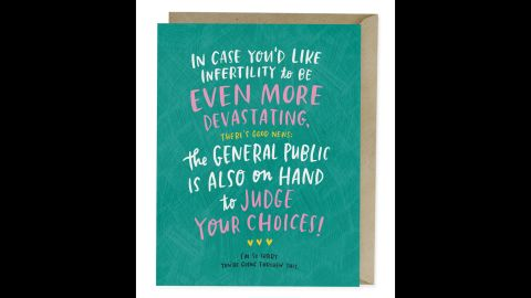 McDowell created cards for a variety of situations, including infertility.