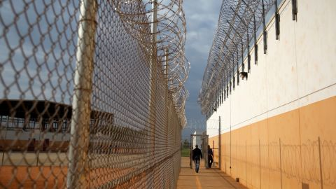 Barbed wire surrounds the toughest immigration court in the continental United States.