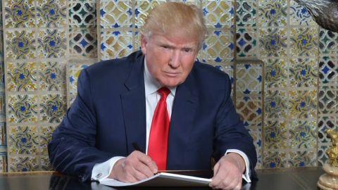 Donald Trump inaugural speech writing photo