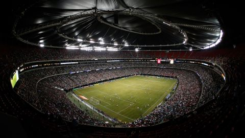 The Georgia Dome hosts soccer's CONCACAF Gold Cup quarterfinal game between Mexico and Trinidad and Tobago in July 2013.