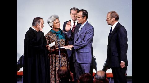 George H.W. Bush is sworn in as director of the CIA on January 30, 1976.