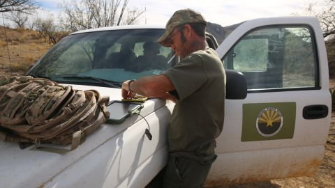 """Tim Foley founded The Arizona Border Recon in 2011, a nongovernment organization which provides intelligence to the US Customs and Border Protection. Foley has set up about a dozen cameras in the Sasabe, Arizona, desert and shares a database of smuggling activity that he says he captures with the Border Patrol. """"It's a huge game of hide and seek,"""" Foley told CNN. """"A wall might help a little bit. But we have a wall here, or a fence, or whatever you want to call it. And it's not a deterrent -- it just slows them down for 10 seconds. So unless you have people watching the wall, it's not going to do anything. You need boots on the ground."""""""