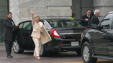 hillary clinton arrives inauguration vo _00001106.jpg