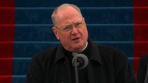 Timothy Michael Dolan, Catholic cardinal and archbishop of New York, recites King Solomon's prayer at the presidential inauguration of Donald J. Trump.