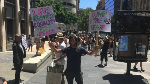 Thousands attend Women's March in Sydney, Australia.