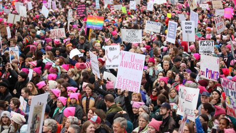 The march evolved from a post-election call to action on Facebook to an organized effort that included high-wattage activists and attendees.