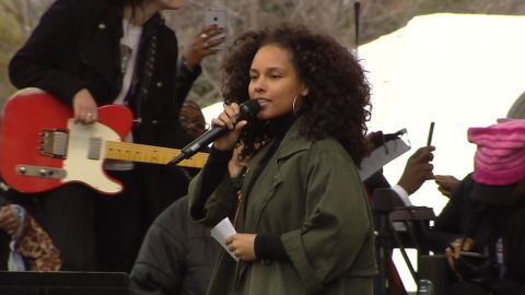 Alicia Keys slams at the Women's March on Washington