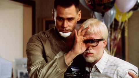 """Jim Carrey, left, and Michael Bowman in """"Me, Myself & Irene."""" Carrey plays a state trooper who develops a second personality, which interferes with his duties."""
