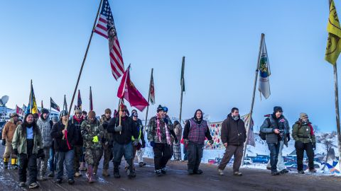 Protesters against the Dakota Access Pipeline in December 2016.