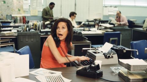 """Moore plays Mary Richards on """"The Mary Tyler Moore Show"""" in 1971."""