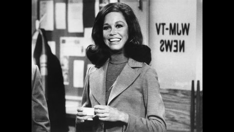 """Actress Mary Tyler Moore, whose 1970s TV show helped usher in a new era for women on television, <a href=""""http://www.cnn.com/2017/01/25/entertainment/mary-tyler-moore-death/"""" target=""""_blank"""">died January 25, 2017</a> at the age of 80. """"The Mary Tyler Moore Show"""" debuted in 1970 and starred the actress as Mary Richards, a single career woman at a Minneapolis TV station. The series was hailed as the first modern woman's sitcom."""