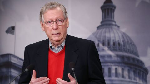 WASHINGTON, DC - DECEMBER 12:  Senate Majority Leader Mitch McConnell speaks to reporters during a news conference at the Capitol, December 12, 2016 in Washington, DC. McConnell spoke about the GOP agenda, and president-elect Donald Trump and his cabinet picks.  (Photo by Mark Wilson/Getty Images)