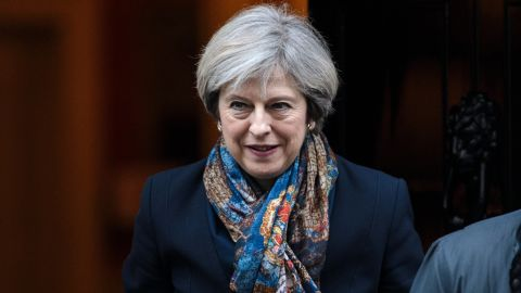 LONDON, ENGLAND - JANUARY 24: British Prime Minister Theresa May leaves 10 Downing Street on January 24, 2017 in London, England. British Supreme Court judges have today ruled by a majority of 8 to 3 that the government cannot trigger Article 50 without an act of Parliament. (Photo by Jack Taylor/Getty Images)
