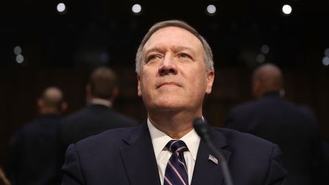 WASHINGTON, DC - JANUARY 12:  U.S. President-elect Donald Trump's nominee for the director of the CIA, Rep.Mike Pompeo(R-KS) attends his confirmation hearing before the Senate (Select) Intelligence Committee on January 12, 2017 in Washington, DC. Mr. Pompeo is a former Army officer who graduated first in his class from West Point.  (Photo by Joe Raedle/Getty Images)