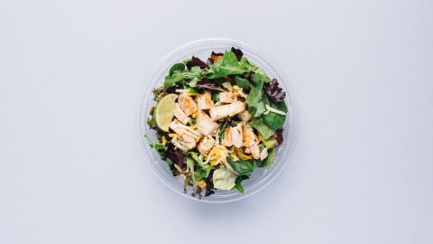 The Southwest grilled chicken salad, minus the tortilla strips (the chain cautions that it would not certify them as gluten-free), is very low in gluten. You won't be deprived of flavor if you skip the dressing, as the salad comes with a tasty vegetable blend and cilantro lime glaze.
