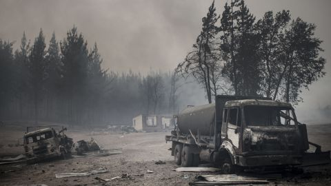 The town of Santa Olga was wiped out by the wildfires.