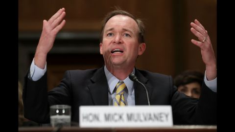 """US Rep. Mick Mulvaney -- Trump's pick to lead the Office of Management and Budget -- testifies during his confirmation hearing on Tuesday, January 24. Mulvaney <a href=""""http://www.cnn.com/2017/01/24/politics/mick-mulvaney-hearings-omb/"""" target=""""_blank"""">didn't back off his views</a> that entitlement programs need revamping to survive -- and he didn't back away from some of his past statements on the matter. Trump, during his campaign, pledged not to touch Social Security or Medicare."""