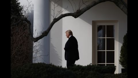 Trump walks from the Oval Office to board Marine One on Thursday, January 26.