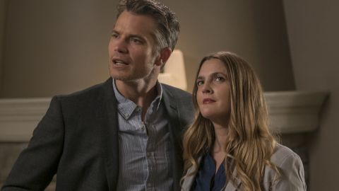 """<strong>""""Santa Clarita Diet"""" Season 3</strong>: Life after being undead can be so stressful for a suburban couple played by Timothy Olyphant and Drew Barrymore, who must deal with the wife becoming a zombie. <strong>(Netflix) </strong>"""