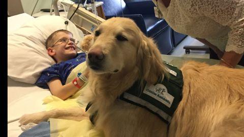 Casper cheers up patients at Children's Healthcare of Atlanta.