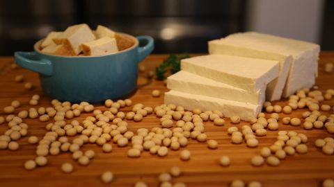 Tofu is a good source of iron and zinc