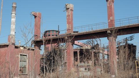 The Shougang Steel Company plant on the outskirts of Beijing, which was shuttered before the 2008 Olympics to avoid an ugly haze of pollution.