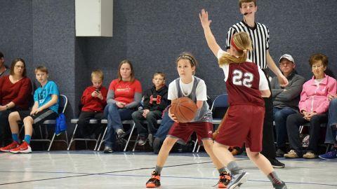 Jordan also plays basketball.