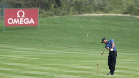 """""""I'm fighting my ass off to try and shoot a score,"""" Woods said, EuropeanTour.com reported."""
