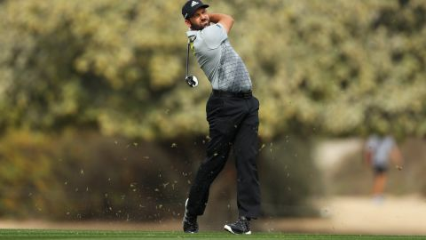 Spain's Sergio Garcia was the early tournament leader with a seven-under 65, one shot better South Africa's George Coetzee and Felipe Aguilar from Chile.