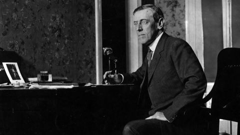 Woodrow Wilson the 28th President of the United States of America in 1916.