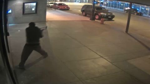 Chicago Police released surveillance video of man smashing the front window of a synagogue.