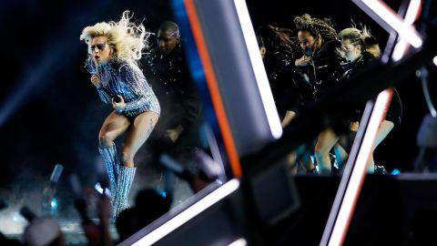 Gaga and dancers perform.