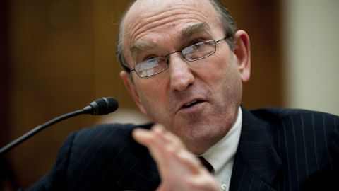 Senior Fellow for Middle Eastern studies at the council on Foreign Relations Elliott Abrams testifies before the House Foreign Affairs Committee on Capitol Hill in Washington, DC, February 9, 2011 on the recent developments in Egypt and Lebanon.
