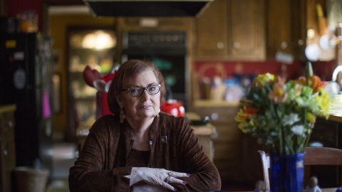 Marlene McCarthy, 73, from Coventry, R.I., lives with advanced breast cancer that has spread to her bones, a painful condition that makes it difficult to walk. She has taken variety of drugs to combat the cancer, and has weathered multiple surgeries and radiation treatments. (Katye Brier/for KHN)